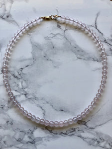 Rose Quartz Beaded Necklace - Jessica Matrasko Jewelry