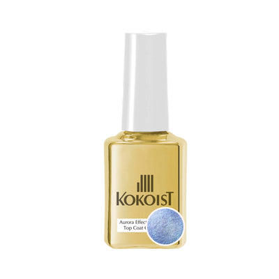 Aurora Effect Non Wipe Top Gel 15ml          BLUE