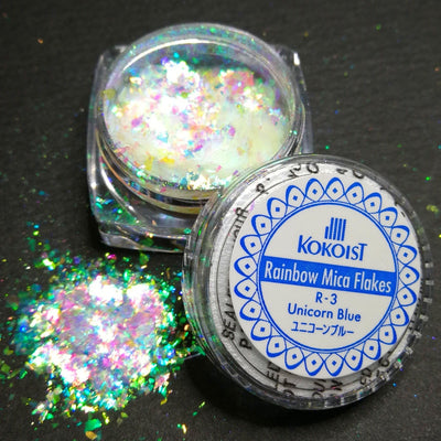 Rainbow Mica Flakes R-3 Unicorn Blue