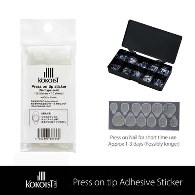 Press-on tip Adhesive Sticker