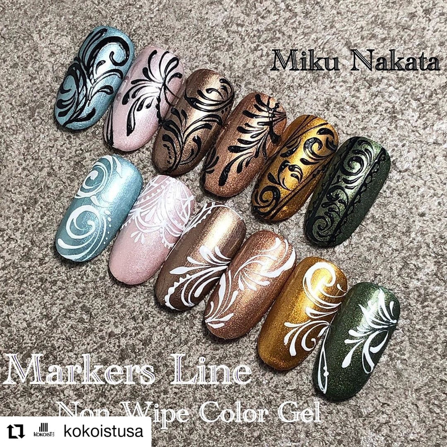 ML-2 Markers Line Non Wipe Color Gel Thick Black