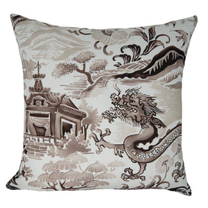 Chinoiserie Pillow in Stoneware