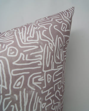 Ritual Pillow Cover in Charcoal