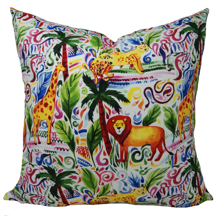Journey in the Jungle Pillow Cover in Multi