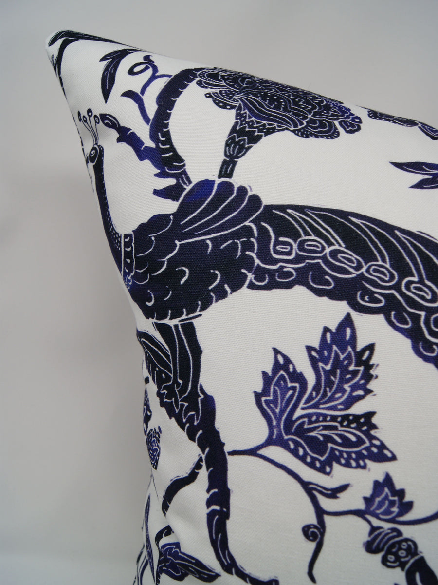Batik Peacock in Indigo