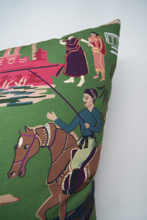 Bara Bazaar Pillow Cover in Viridian