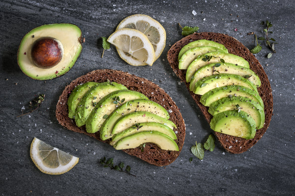 avocado on toast with lemon