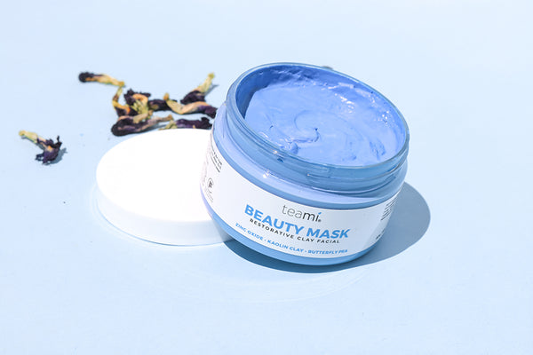 teami butterfly pea flower beauty clay mask facial