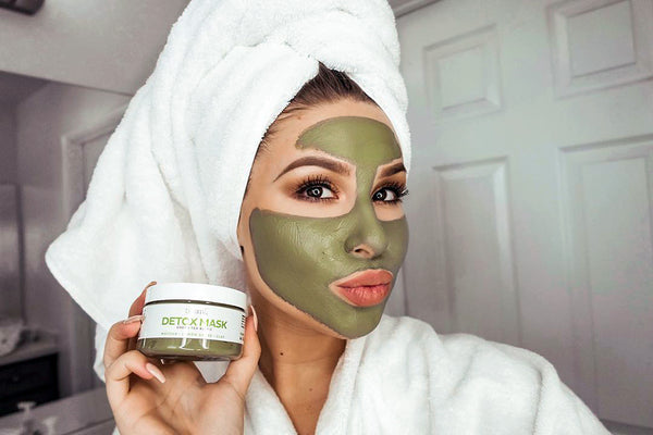 woman with teami blends green tea detox mask