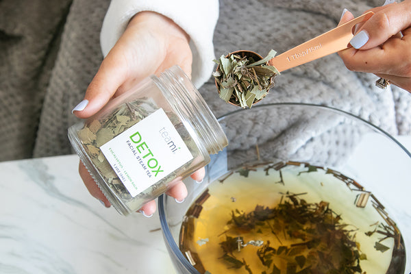 teaspoon of teami detox facial steam tea