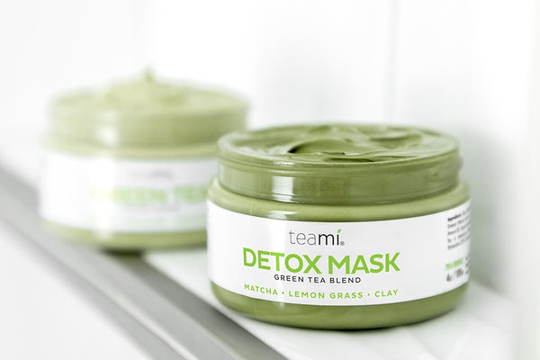 teami green tea detox mask and green tea facial scrub