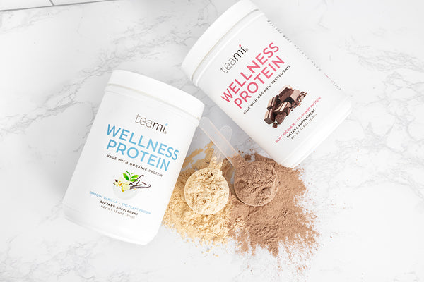 Teami Organic Plant-Based Wellness Protein Smooth Vanilla & Rich Chocolate