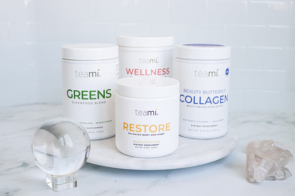 Teami Marine Collagen Powder with Greens Superfood, Restore and Protein