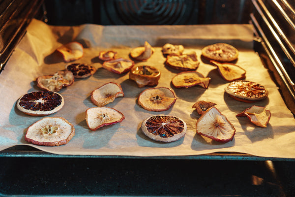 homemade dried fruit slices