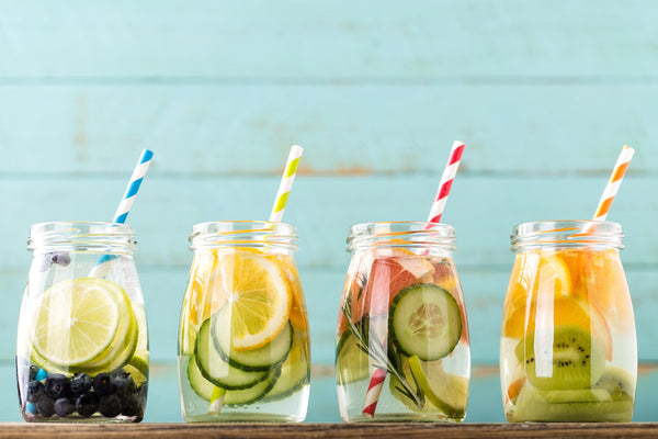 fruit and cucumber infused water