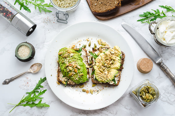 hemp seeds on Avocado and toast