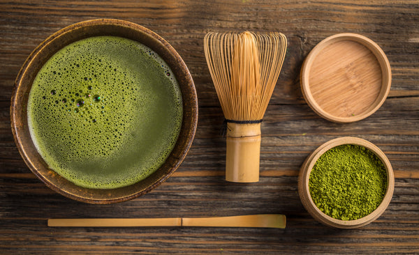 ceremonial grade matcha powder and tea