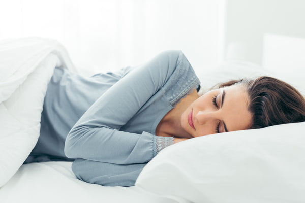 woman getting sufficient sleep