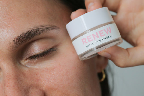 Adi Arezzini with Teami Renew Eye Cream