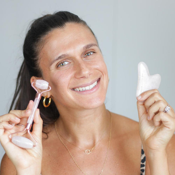 Rose Quartz Facial Roller - Free
