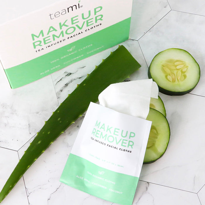 Makeup Remover With Aloe Vera and Cucumber Slices