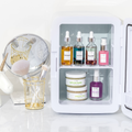 Teami Skin care fridge with facial oils, serums, mask and scrub