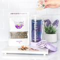 Teami Blends Butterfly Tea in a lavender tea tumbler