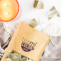 Teami Blends Colon Tea coming out of the bag