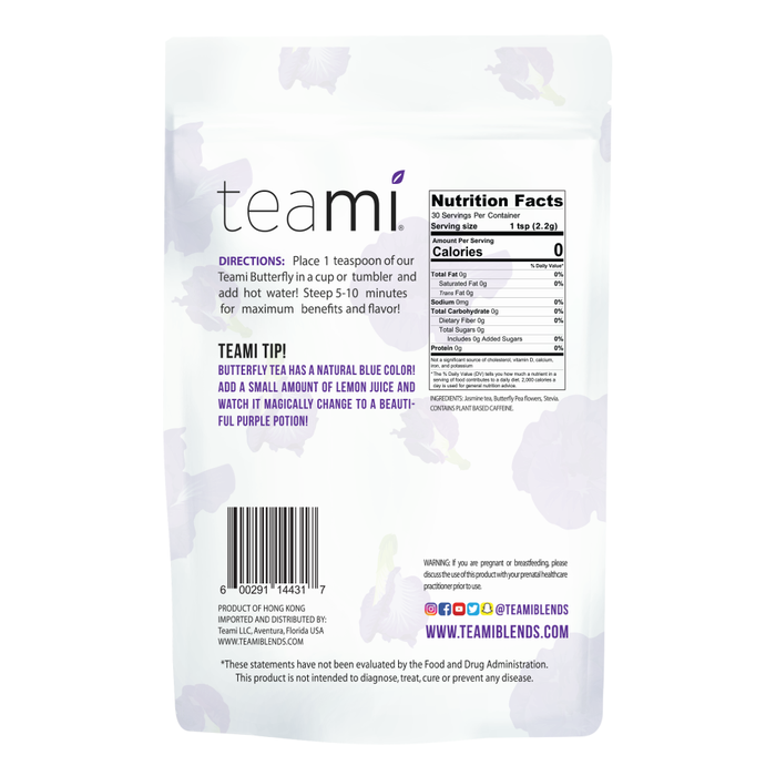 Teami Butterfly Tea Blend back