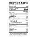 Teami Refresh Tea Blend nutrition facts