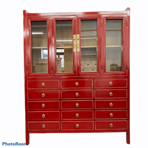 Bookcases/Cabinets Asian Red Cabinet - Large
