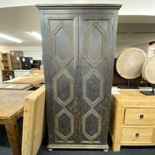 Load image into Gallery viewer, Bookcases/Cabinets Black Rustic 2 Door Cabinet