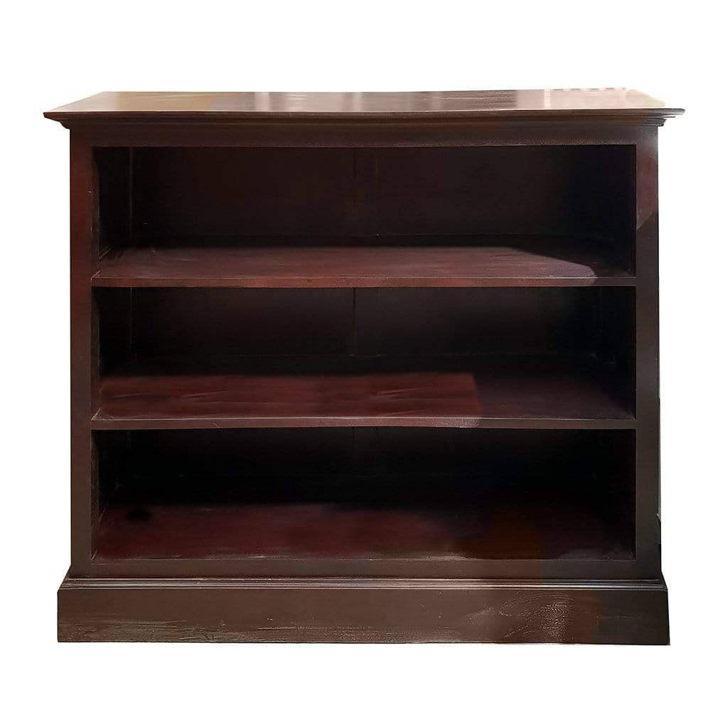 Bookcases/Cabinets Dark Wood Bookshelf with 3 Shelves 5-Shelf Bookcase, Natural Pine - Impulse Imports Furniture