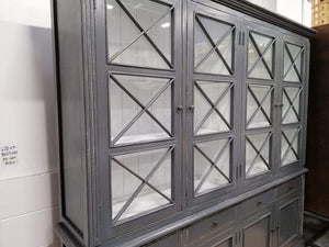 Bookcases/Cabinets Provincial Large Glass Cabinet