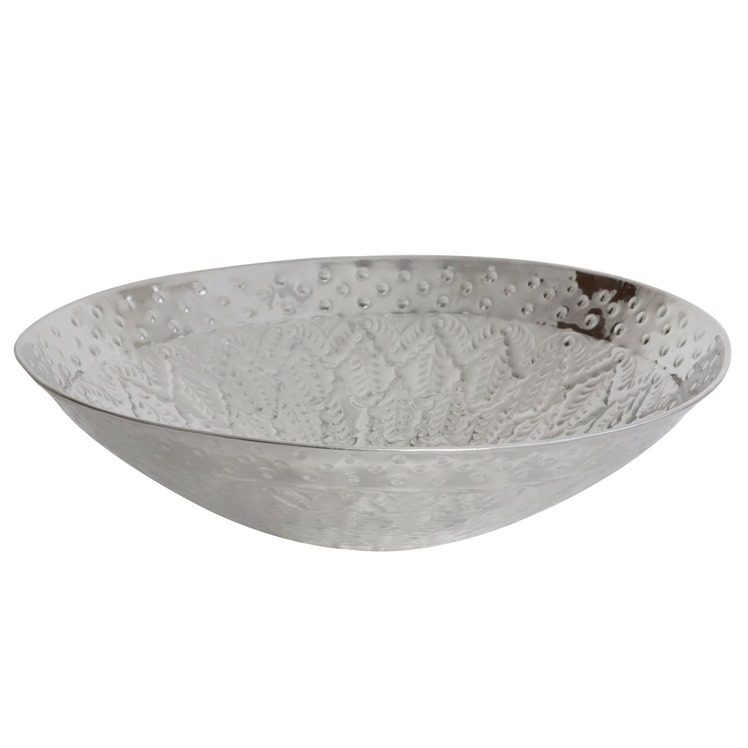 Bowls & Vessels Calypso Embossed Bowl Nickel