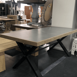 Concrete top dining table - 2.0m