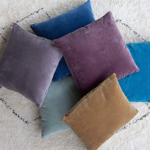Windsor Velvet Cushion Denim