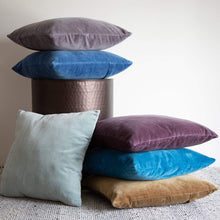 Load image into Gallery viewer, Cushions Windsor Velvet Cushion Denim