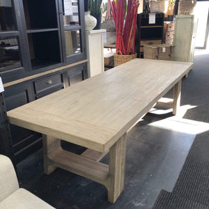 Dining Table Old Elm Wood Dining Table 2.8m