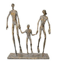 FAMILY OF THREE STATUE