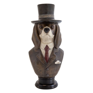 Home Accents Busto Top Hat Dog Statue