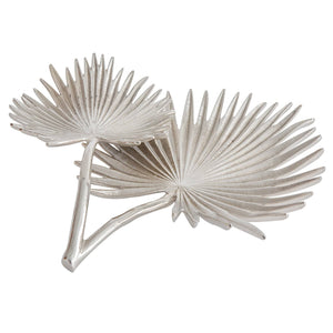 Home Accents Foliage Divided Palm Leaves Dish