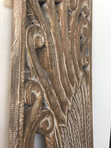 Home Decor Hand-Carved Teak Wooden Panel