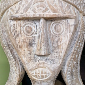 Home Decor Hand-Carved Wooden Face Mask