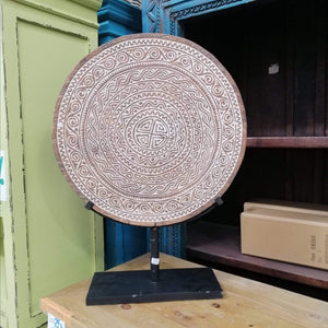 Home Decor Wooden Hand-carved Disc