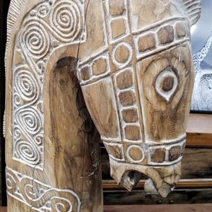 Home Decor Wooden Horse Head