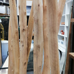 Miscellaneous Natural Timber Divider with Metal White Base