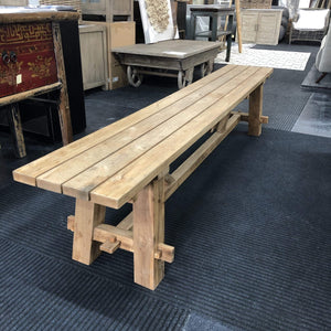 Seating Recycled Teak Geneva Outdoor Bench Seat 2.2m Length