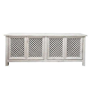 Sideboards/Consoles 4 Door Sideboard with Traditional Cross Design - Sino Collection