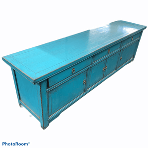 Sideboards/Consoles Asian Style Blue Entertainment Unit